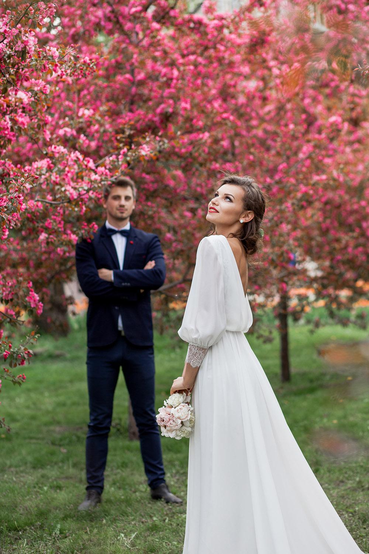 образы молодых цветение яблонь