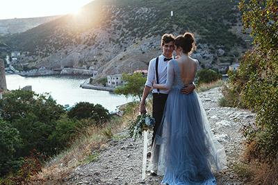 Свадьба в Крыму, мыс Фиолент