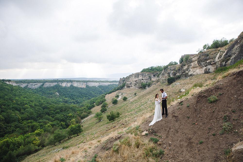 свадебная фотосессия бохо в Чуфут Кале
