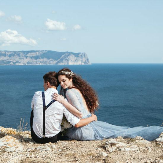 жених и невеста на мысе ФИолент